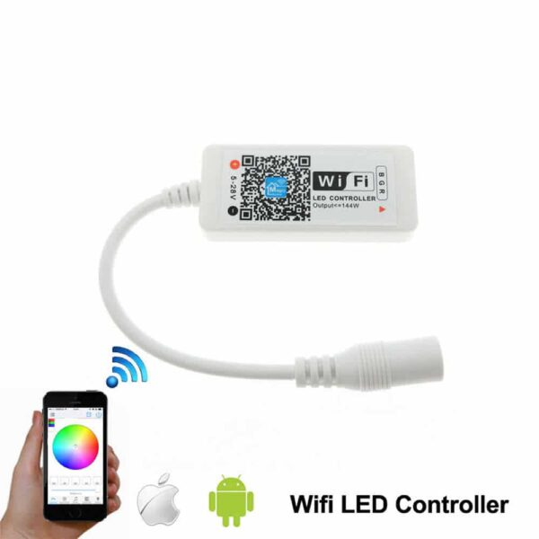 Kit Fita Led Rgb 5 Metros + Controlador Wifi (Pack Completo) - Gadgets &Amp; Coisas