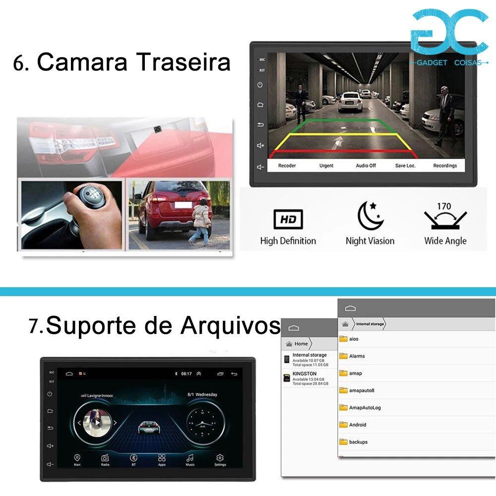 Autoradio 2Din Android De 7&Quot; Polegadas - Gadgets &Amp; Coisas
