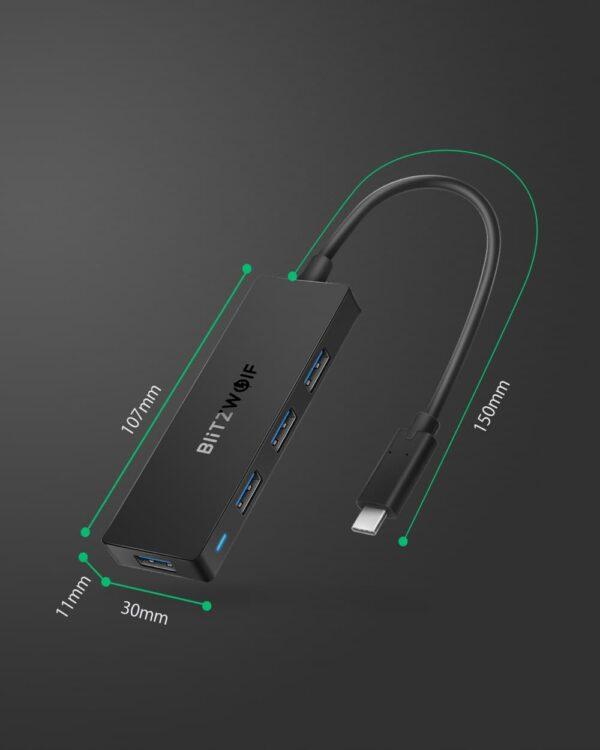 Blitzwolf® Hub Type-C Usb 3.0 - Gadgets &Amp; Coisas