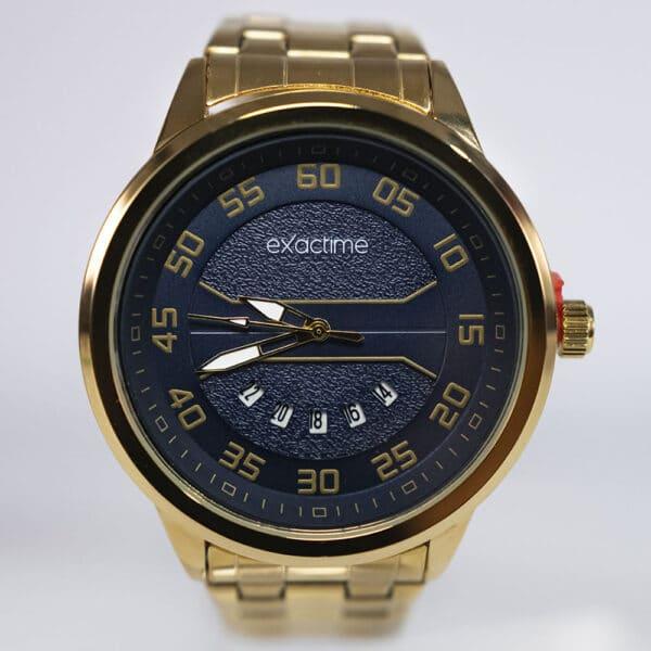 Exactime Zeus 6042Da – Dourado/Azul - Gadgets &Amp; Coisas