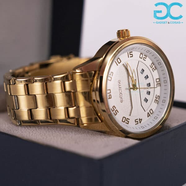 Exactime Zeus 6042Db - Dourado/Branco - Gadgets &Amp; Coisas