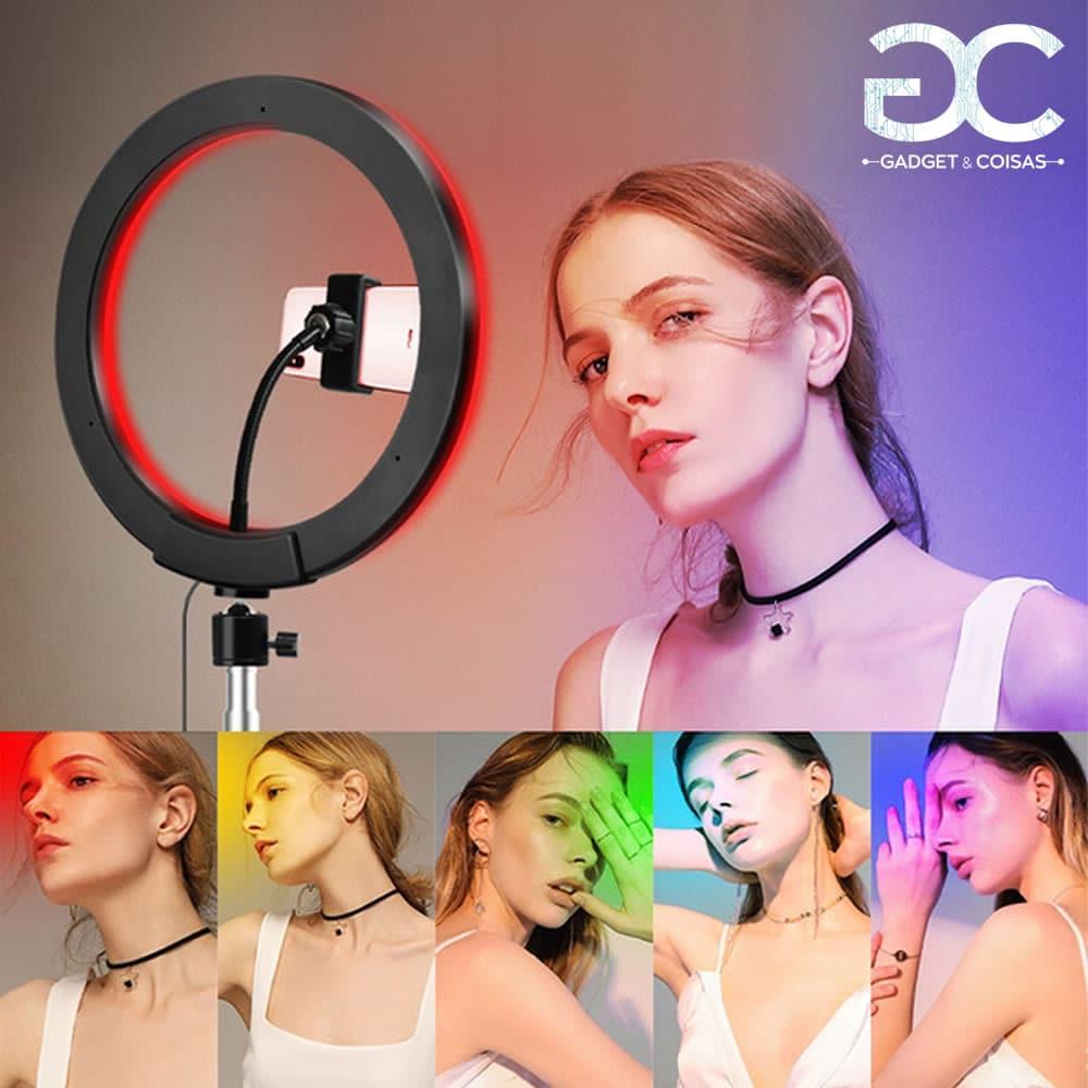 Ring Light Rgb - Kit Completo - Gadgets &Amp; Coisas