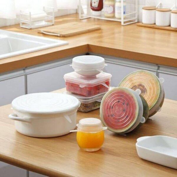 Tampas Elásticas De Silicone Ecológicas E Reutilizáveis - Gadgets &Amp; Coisas